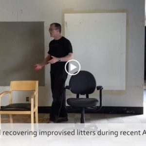 Battlefield recover chairs as improvised litters